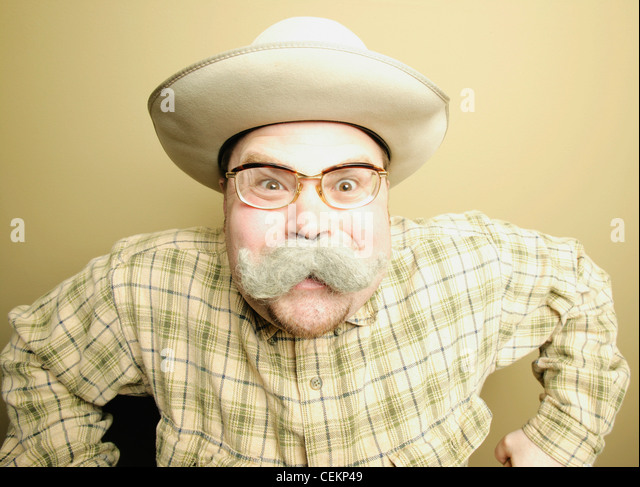 A Man With Moustache - Stock Image