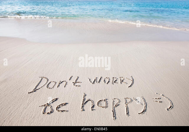 Don't worry, be happy - Stock Image