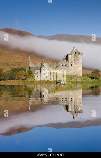 Ruins of Kilchurn Castle on Loch Awe, Argyll & Bute, Scotland. Autumn (October) 2010. - Stock Image