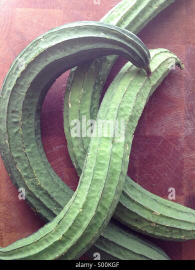 Three Chinese silk squash - Stock Image