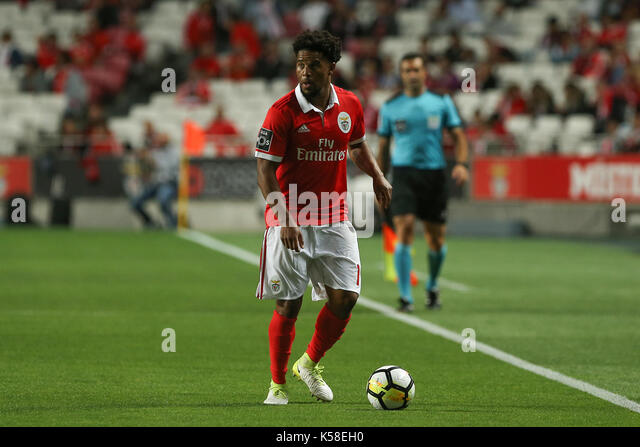Benfica«s defender Eliseu from Portugal during the Premier League 2017/18 match between SL Benfica v Portimonense - Stock Image