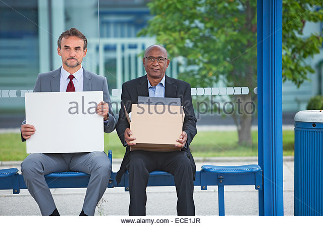 Two men Disappointed dismissal distraught downturn - Stock Image