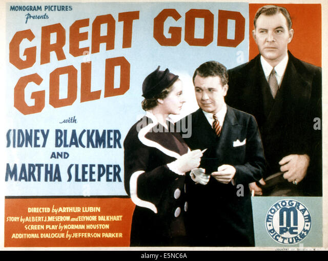 GREAT GOD GOLD, Martha Sleeper, Regis Toomey, Sidney Blackmer, 1935 - Stock Image