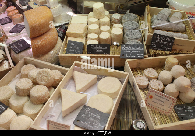 The La Rochelle outdoor and indoor food market - Stock Image