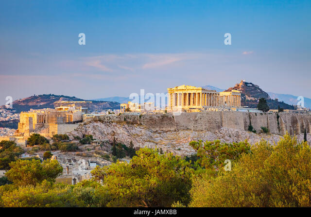 Acropolis in Athens, Greece - Stock Image
