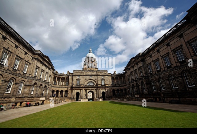 Panorama of Edinburgh University South College Lothian Scotland UK wide view - Stock Image