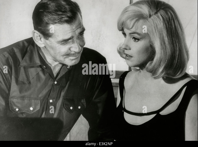 the misfits,clark gable and marilyn monroe,1961 - Stock Image