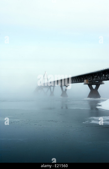 The Deh Cho bridge in the Northwest Territories, Canada - Stock Image