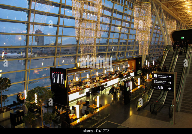 Zurich Airport Center Bar, Kloten, Switzerland - Stock Image