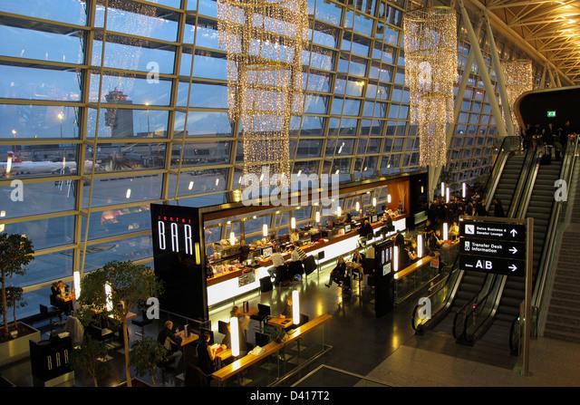 Zurich Airport Center Bar, Kloten, Switzerland - Stock Image