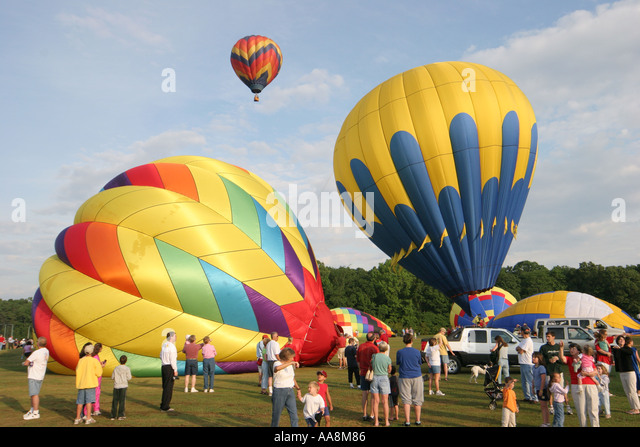 Alabama Decatur Alabama Jubilee Hot Air Balloon Classic families - Stock Image