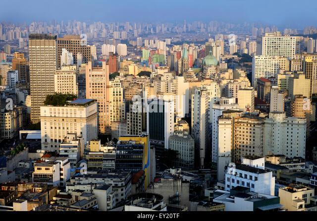 Cityscape with skyscrapers, São Paulo, Brazil - Stock Image