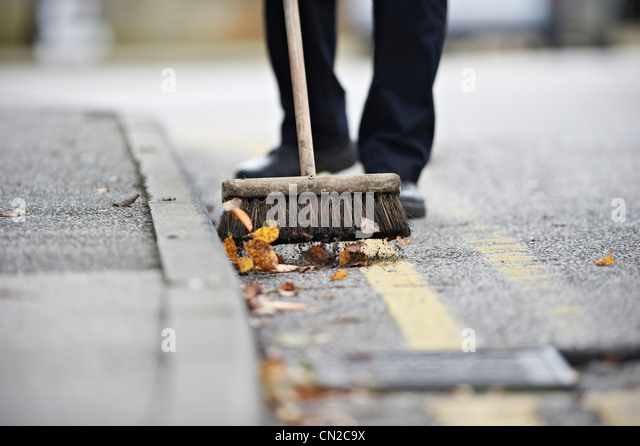Street sweeper - Stock-Bilder