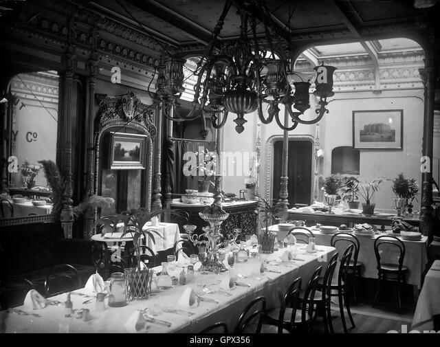 SS GREAT EASTERN  Dining room - Stock-Bilder