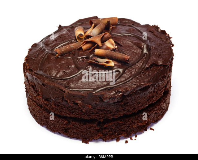 Chocolate cake cutout - Stock Image