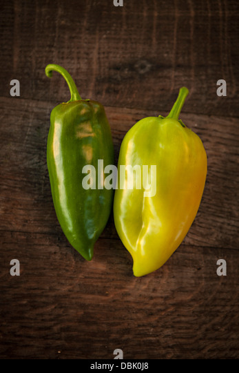 Fresh Green Bell Pepper, Croatia, Slavonia, Europe - Stock Image