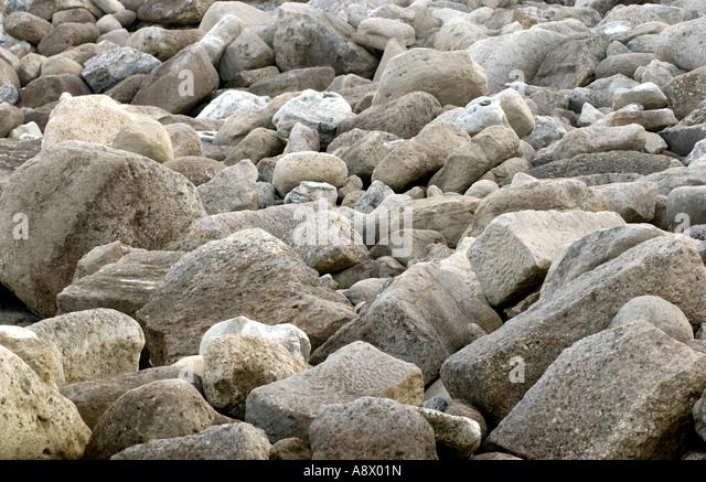 Rocky foreshore at Portland Bill Dorset England UK - Stock Image