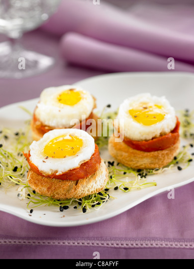Majorcan stock photos majorcan stock images alamy for Quail egg canape