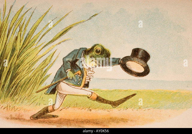 The Frog Who Would A Wooing Go from Old Mother Goose s Rhymes and Tales - Stock Image