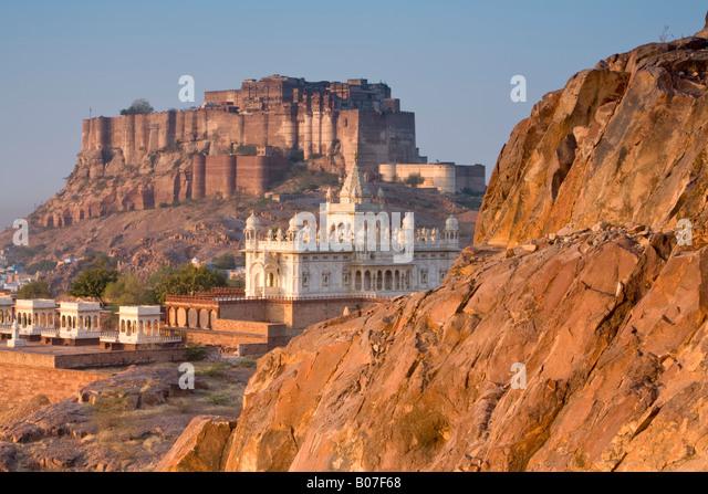 Jaswant Thada & Meherangarh, Jodhpur, Rajasthan, India - Stock-Bilder
