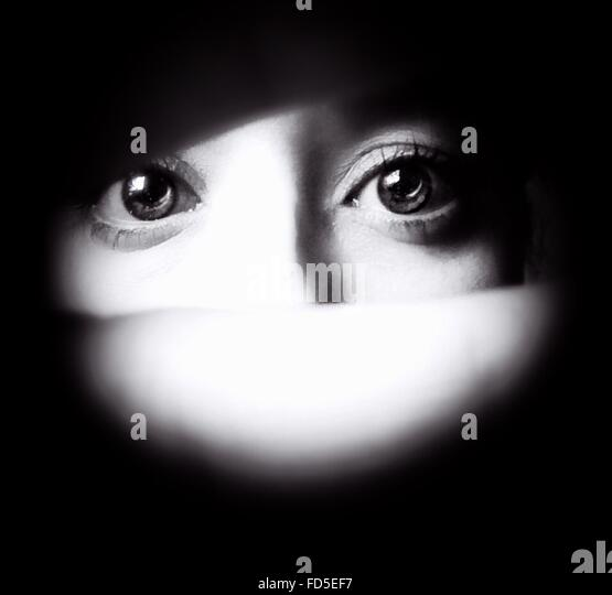 Detail Of Human Eyes - Stock Image