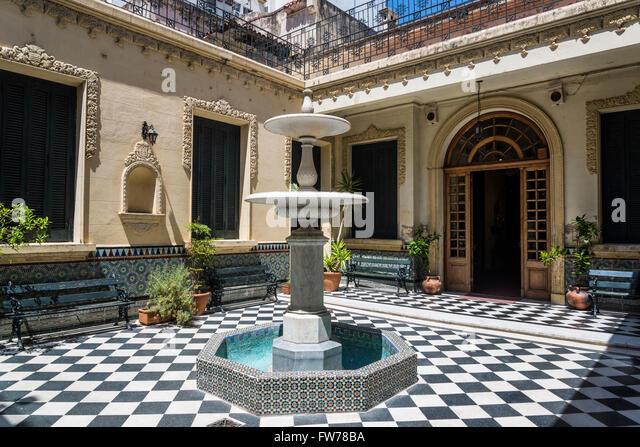 Courtyard of the Museum of Decorative Arts Firma y Odilo Estevez, Rosario, Santa Fe, Argentina - Stock Image