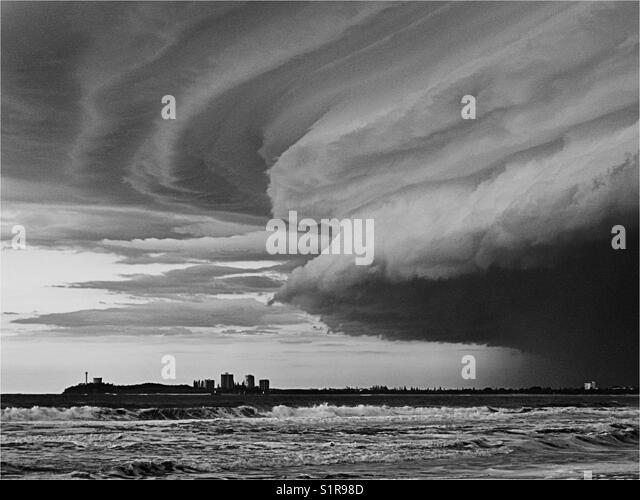 supercell storm over Mooloolaba - Stock Image