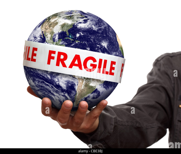 Fragile earth - Stock Image