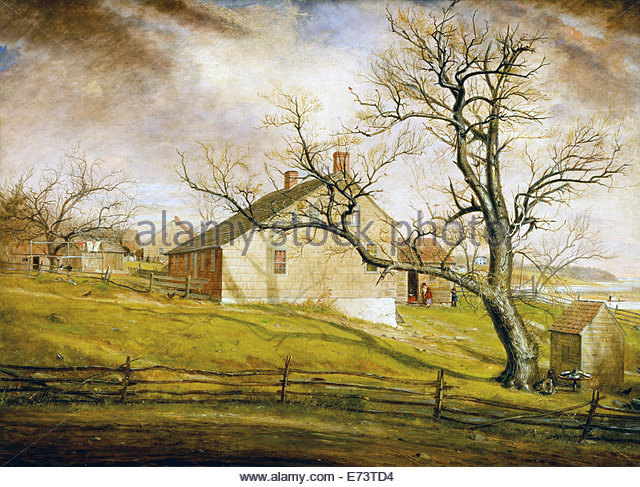 Long Island Farmhouses - by William Sidney Mount, 1862 - Stock Image