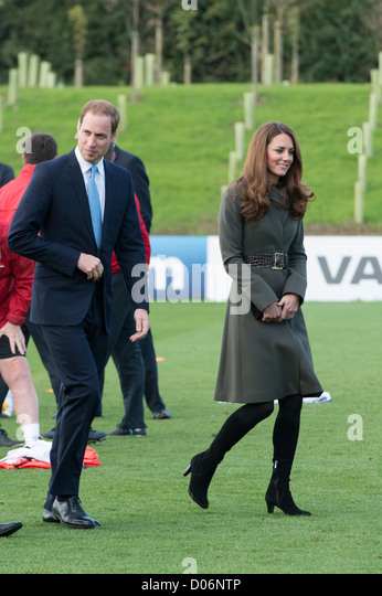 The Duke and Duchess of Cambridge visiting St George's Park, The FA Training Facility, Burton on Trent, Staffordshire, - Stock Image
