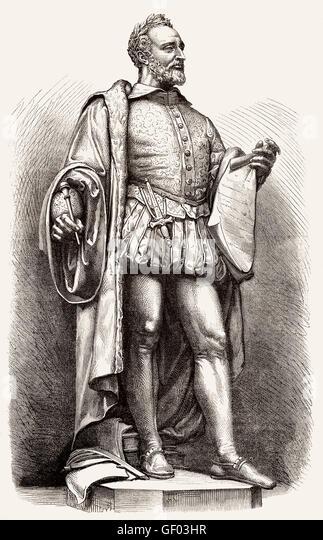 Pierre de Ronsard, 1524-1585, a French poet - Stock-Bilder