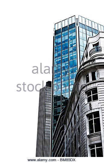 Business buildings - London - Stock-Bilder