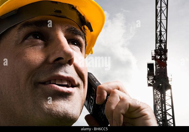 On site communication - Stock Image