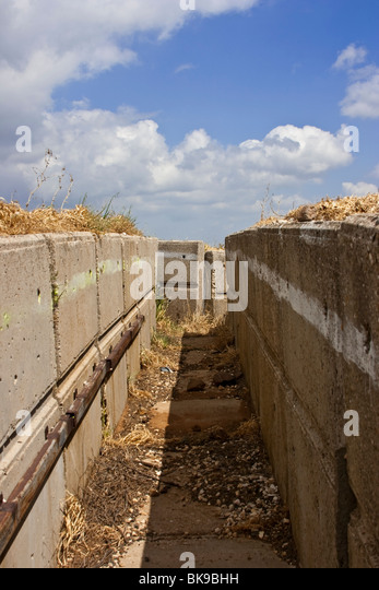 Trenches, trenches - Stock Image