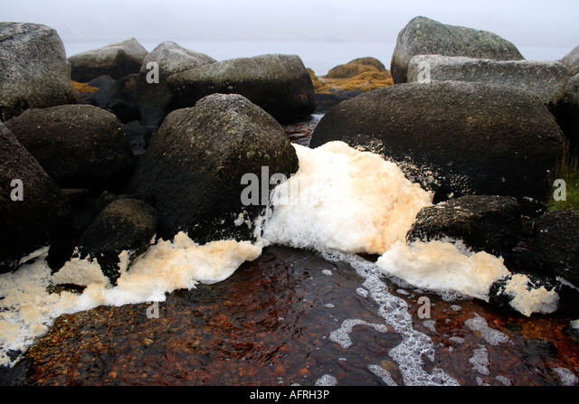 polluted water in motion. Photo by Willy Matheisl - Stock Image
