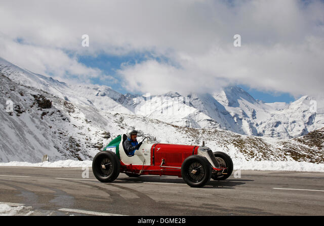 Maserati 8 CM, built in 1933, International Grossglockner Grand Prix 2012, classic car mountain rally - Stock Image