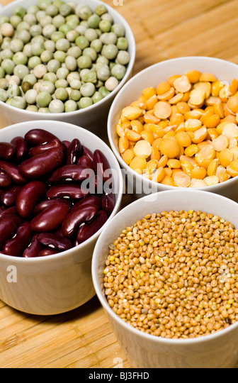 Various types of beans. Shot in studio. - Stock Image