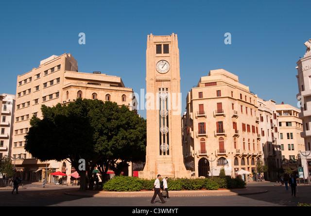 Place d Etoile, Beirut Lebanon - Stock Image