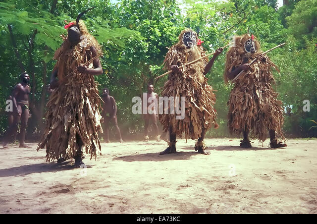 Tribal Dance in Vanuatu - Stock Image