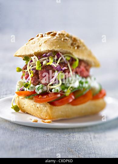 Organic hamburger - Stock-Bilder