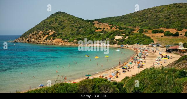 Italy Sardinia Polina beach west coast - Stock Image