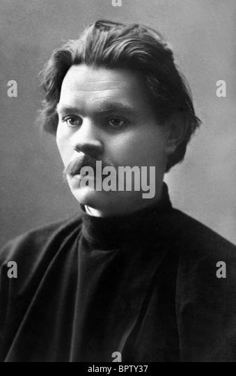 MAXIM GORKY WRITER (1908) - Stock Image