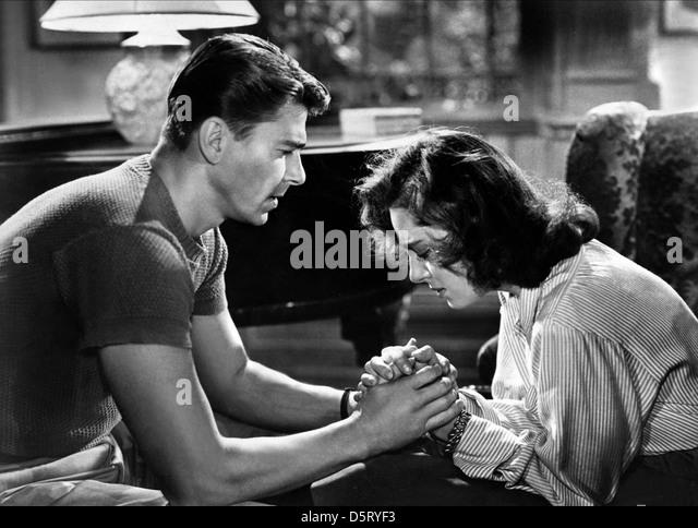 RONALD REAGAN & VIVECA LINDFORS NIGHT UNTO NIGHT (1949) - Stock-Bilder