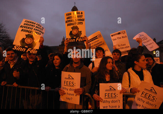 Students protest - Stock Image