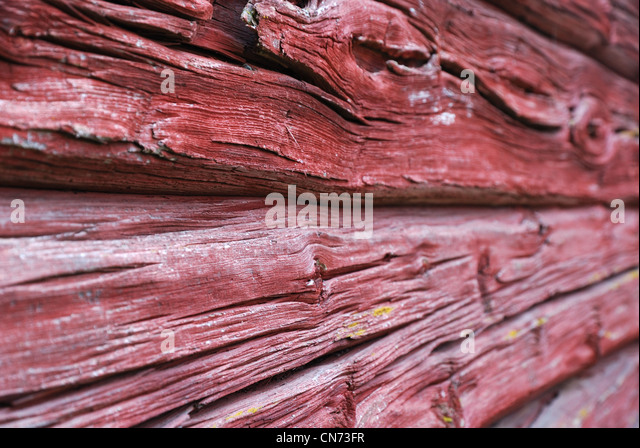 Close-up of planked wall - Stock-Bilder