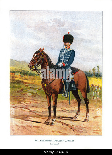 The Honourable Artillery Company Cavalry c1890  - Stock Image