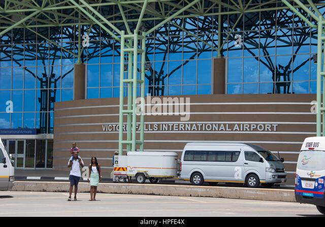 Victoria Falls International Airport, Victoria Falls, Zimbabwe - Stock Image