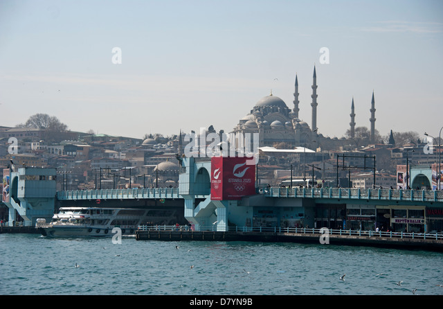 Galata Bridge Istanbul Turkey - Stock Image