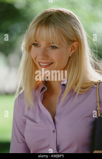 SHALLOW HAL   2001 Twentieth Century Fox film with Gwyneth Paltrow as Rosemary a Peace Corps volunteer - Stock Image