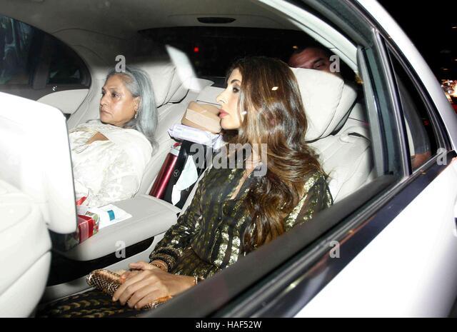 Bollywood actor Jaya Bachchan with her daughter Shweta Bachchan Nanda during Rima Jain 60th birthday celebration - Stock Image